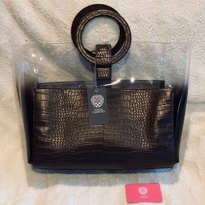 Vince Camuto Large Clear Tote with Ring Handles